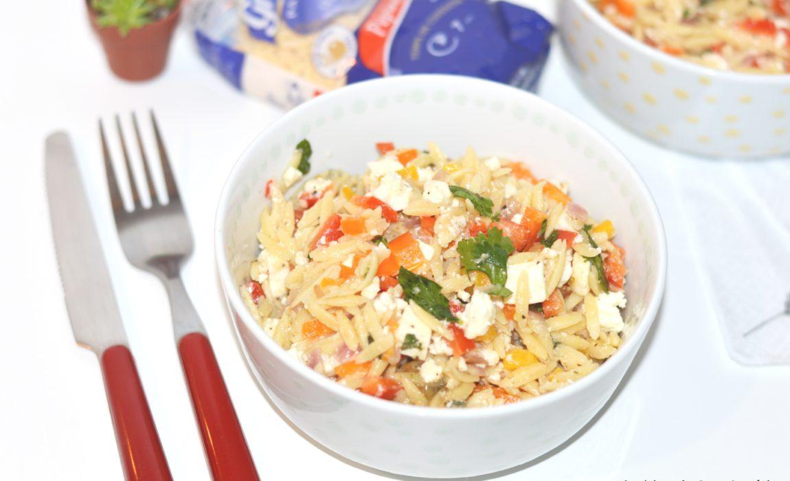 Salade de pépinettes aux poivrons et à la féta {#Grand'Mère Pâtes d'Alsace}