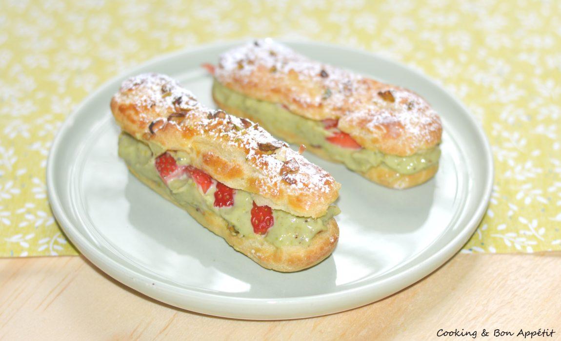 Eclair pistache fraise