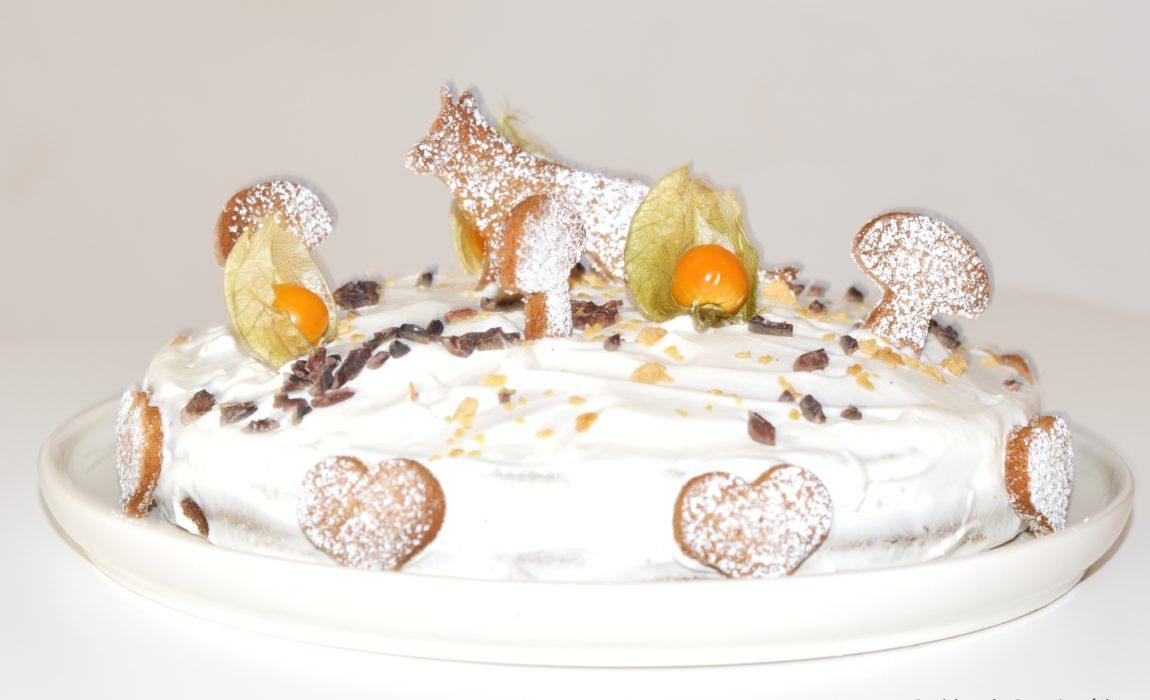 Forest cake – Gâteau châtaigne et agrumes