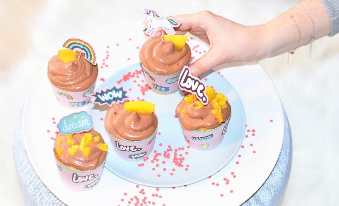 Pop Cupcakes 🍫 Mangue – chocolat au lait
